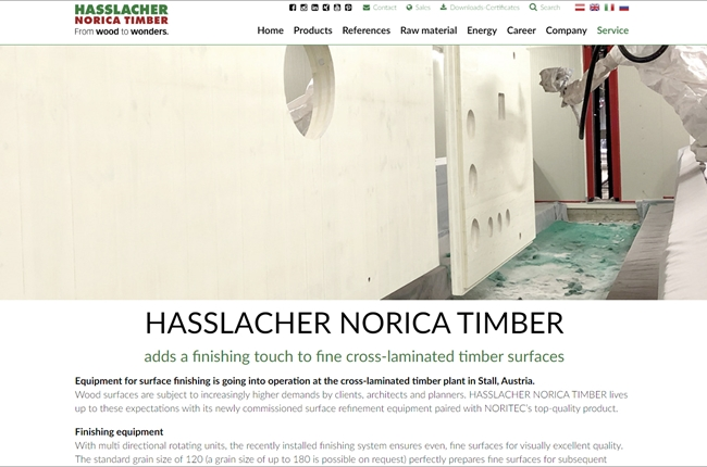 Finiture for Hasslacher Norica Timber