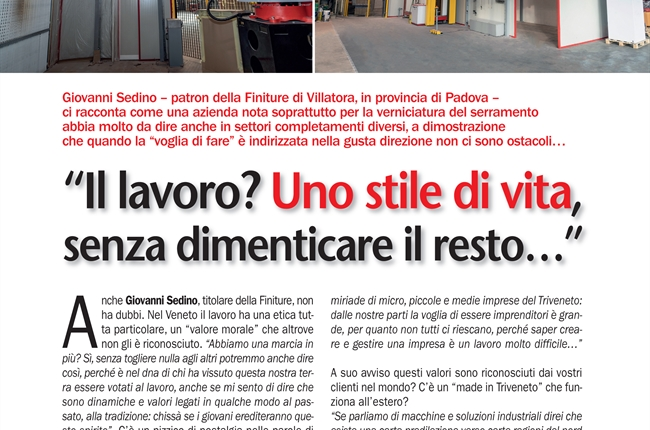 Finiture on the Triveneto Special of Xylon magazine